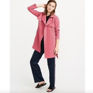 NWT A&F Drapey Belted Button Trench Coat  SZ M